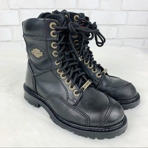 Harley Davidson Leather Combat Boots
